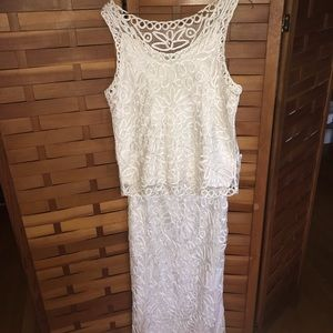 Soulmates 100% Silk Crochet 2pc gown (M)